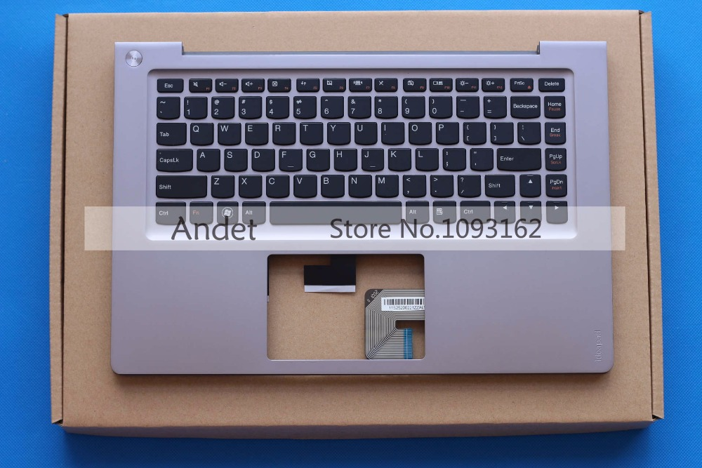 New Original Lenovo U400 Palmrest Keyboard Bezel Upper Case 31052386 neworig keyboard bezel palmrest cover lenovo thinkpad t540p w54 touchpad without fingerprint 04x5544