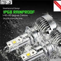 High power 2200LM H4 H7 LED fog light LED fog light bulb lamp for Toyota Honda mazda captiva nissan HID white 6000K 3000k