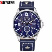 Curren Men Watches Top Brand Luxury Date Fashion Casual Hours Clock Male Leather Casual Quartz Watch