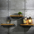 New Brand 25*15cm Wall Hanging Shelf Metal & Wood Storage Holders Racks Bathroom Shelves for Living Room, Kitchen FJ-ZN1Y-012A0