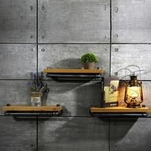 New Brand 25*15cm Wall Hanging Shelf Metal & Wood Storage Holders Racks Bathroom Shelves for Living Room, Kitchen FJ-ZN1Y-012A0