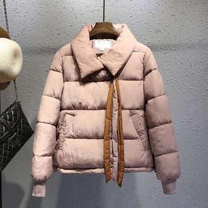 Image 5 - בתוספת גודל XXXL קצר כותנה מעיל נשים Harajuku סגנון חורף מעיל נשים Chaqueta Mujer לחם מעיל כותנה מעיל Parka C4900