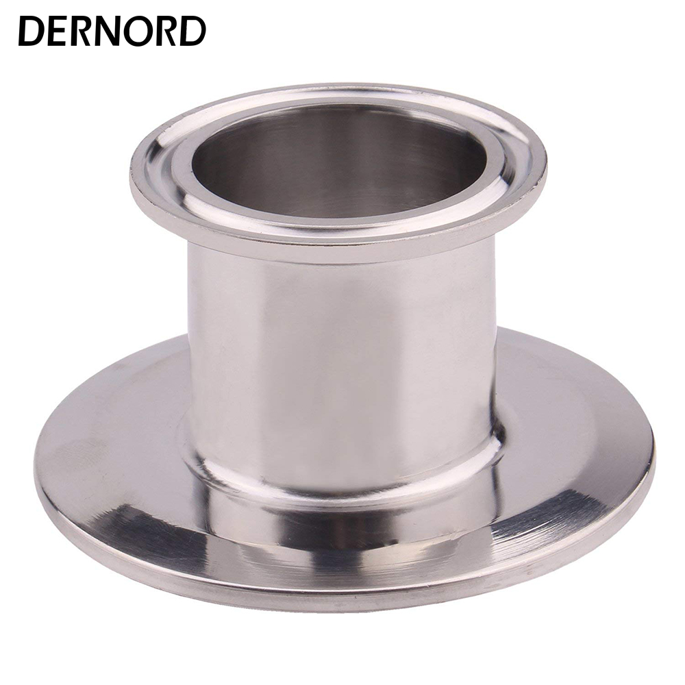 DERNORD 1.5 Inch X 2.5 Inch Tri Clamp End Cap Reducer, Stainless Steel 304