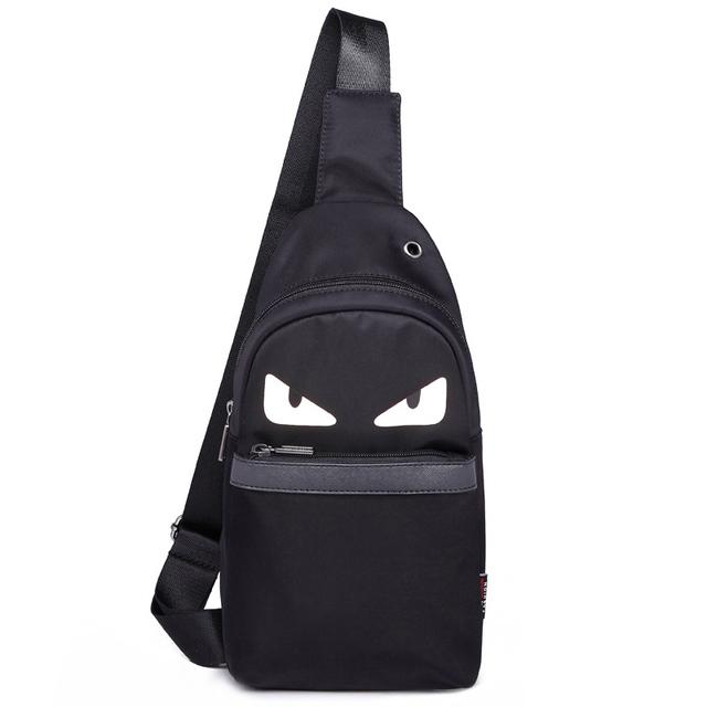 2016 man & women peito mensageiro sacos pacote peito feminino oxford sólidos zipper grandes olhos para bagagem & travel