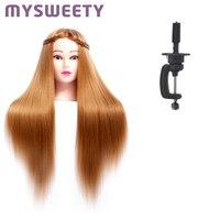 Голова куклы для парикмахеров 24 дюйма Манекен Обучение куклы головы манекен профессиональный стиль голова парик голова для прически