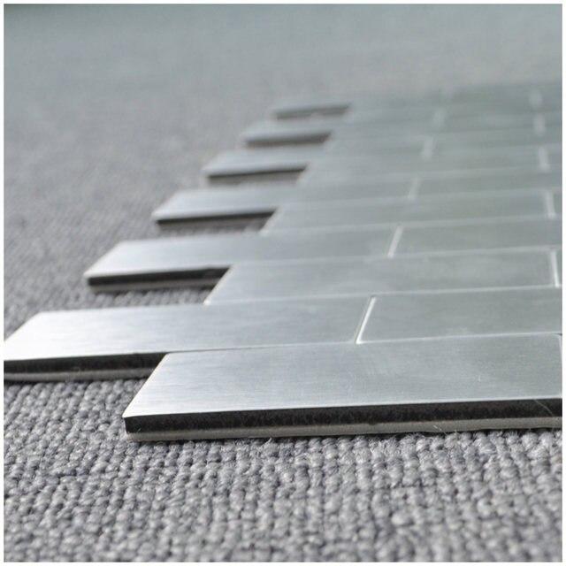 10 Sheets L And Stick Brick Aluminium Tiles Backsplashes 12 X Metal Mosaic