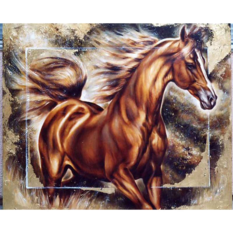 Diamond Embroidery Bolted horse Diy Diamond Painting Full Square Mosaic Pasted Canvas Cross Stitch Crafts Needlework JS875