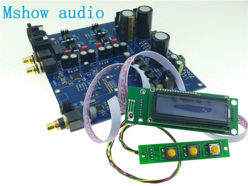 NOUVEAU Double AK4497 DAC AK4497EQ DSD Natif DAC 32Bit 384 khz HIFI AUDIO OPTION xmos ou Amanero peut passer à OPA1611 + OPA1612