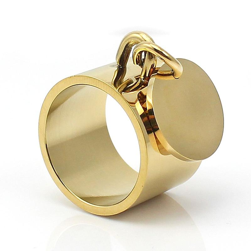 Mode sølvringe anillos rustfrit stål Big Party Charm Ringe til - Mode smykker - Foto 3