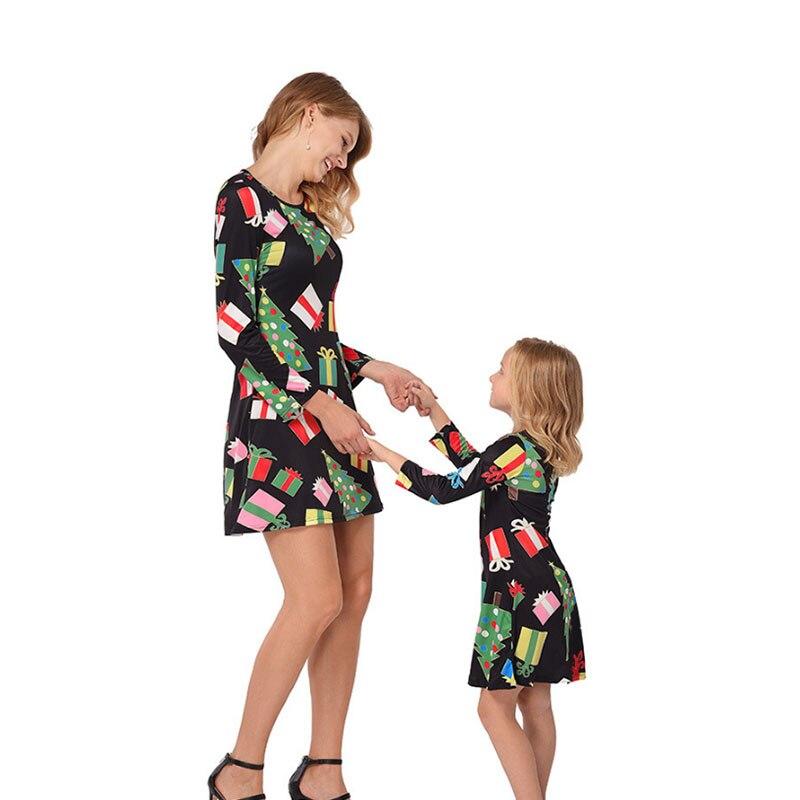 Et moi Look de famille maman mère et fille vêtements robes 2019Mom fille noël correspondant robe famille correspondant tenues maman
