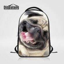 Dispalang Men Travel Bagpack Women Casual Shoulder Bags Cute Pug Dog Custom Design Laptop Backpack For Teenagers Mochila Escolar