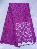African Lace High Quality African Guipure Cord Lace Fabric Nigeria Soluble Water Lace For Dress Wedding