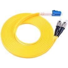 10 stücke Fiber Optic Jumper Kabel LC/UPC FC/UPC Single Duplex Faser 3,0mm PVC 3 Meter Faser patchkabel lc fc