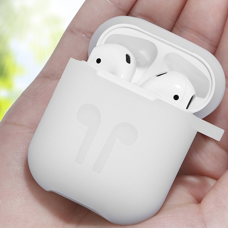 For Apple Airpods Silicone Case Soft Cover Protector with Dust Plug Anti Lost Strap Sleeve Pouch for Air pods Earphone (5)