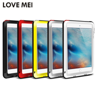 Love Mei Powerful Waterproof Shockproof Aluminum Case Cover For Apple IPad Air Air 2 Mini 2