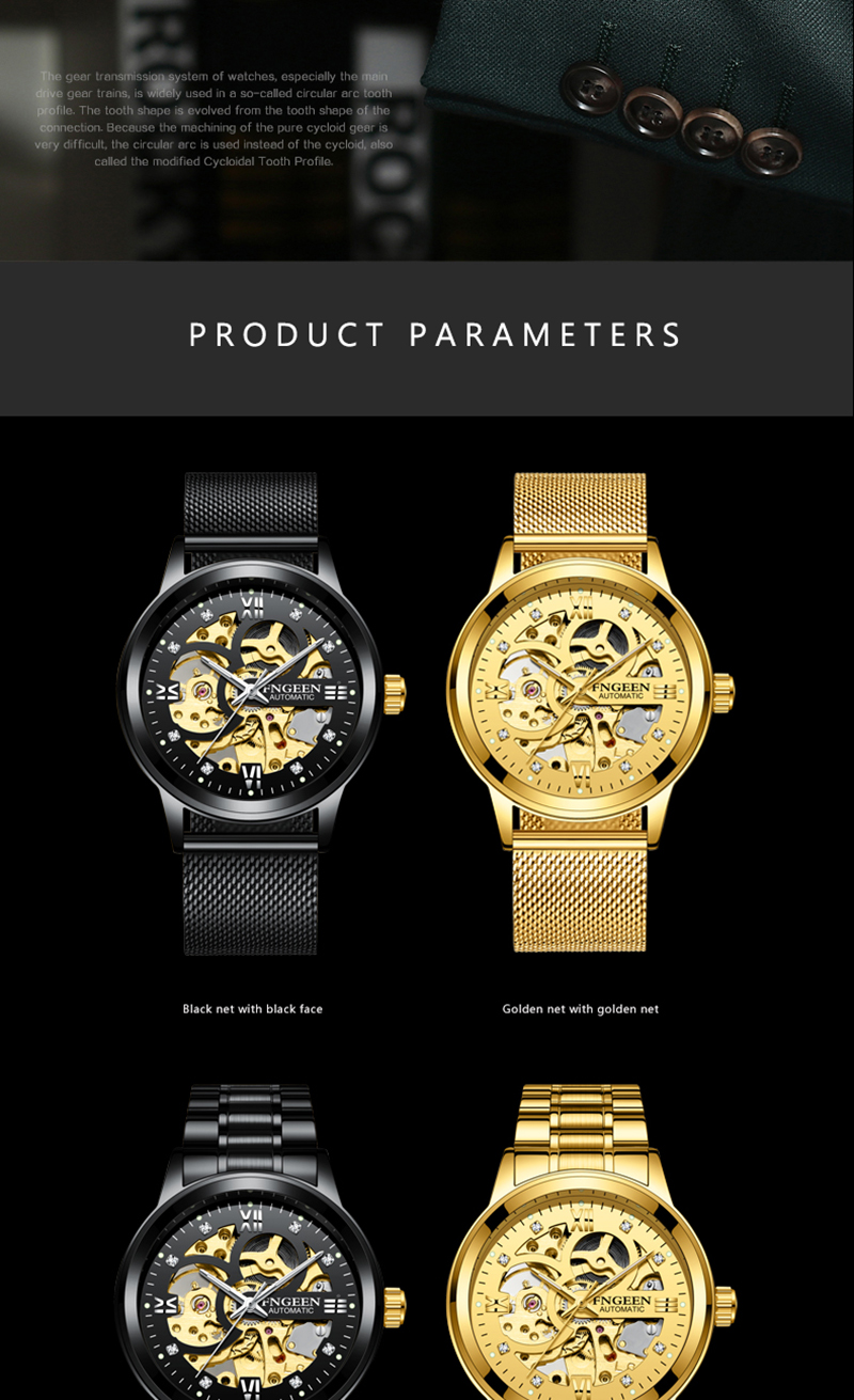 HTB11WjIB2iSBuNkSnhJq6zDcpXaJ Skeleton Watch 2019 New FNGEEN Sport Mechanical Watch Luxury Watch Mens Watches Top Brand Montre Homme Clock Men Automatic Watch
