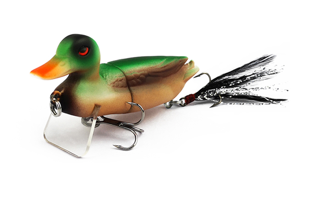 7cm 10g Topwater Floating Duck Baits with Hooks Jointed Fishing Lure 5