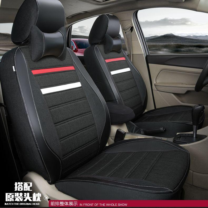car seat covers for Cadillac CTS CT6 SRX DeVille Escalade SLS ATS-L/XTS CIMA Nissan Qashqai NP300 D22 f150 ranger Everest