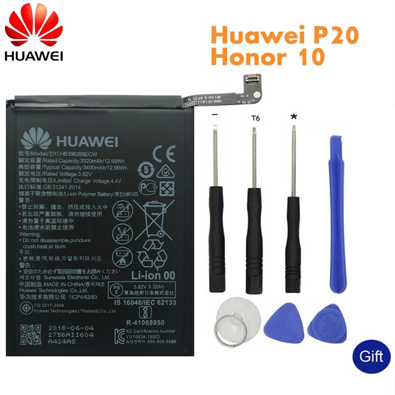 Huawei Original Phone Battery HB396285ECW For Huawei P20 Honor 10 Honor 10 Lite 3400mAh Replacement Batteries +Tools