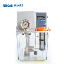 NBSANMINSE SDX2-22C Thin Oil Lubrication Pump Gear 2 liter 3 Liter Mpa with single / Double digital display For CNC Machine