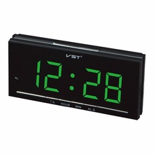 1.8 inches LED display digital alarm clock with EU plug Home desktop electronic alarm clock Student's gift clock
