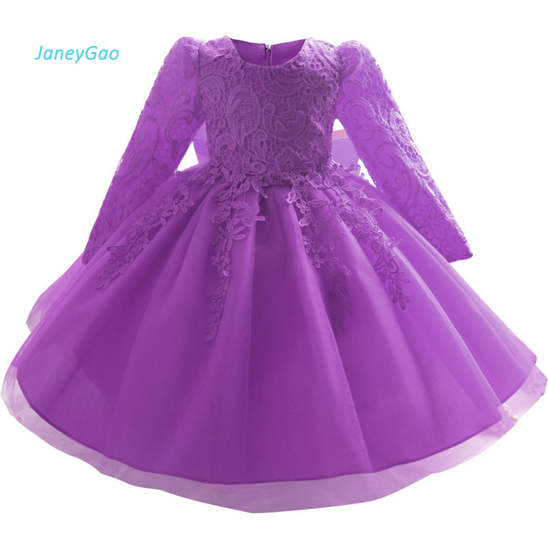 Janeygao Flower Girl Dresses 2018 New Arrival Purple Red Pink With