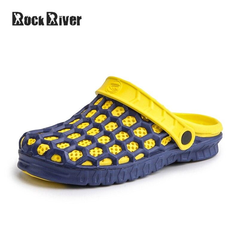 Unisex Jelly Shoes Slip-on Sandals Men Summer Outdoor Breath Mens Sandals Light Casual Slippers Croc Shoes Clogs Men