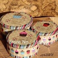 Большой Размер 3 шт choco-чип кейс для хранения торт и печенье случае круглая жестяная коробка Железный контейнер для хранения Хит продаж! Коро...