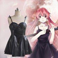 Anime Future Diary Cosplay Costume Mirai Nikki Black Dress Women Braces Skirt Performance Apparel Halloween Suit
