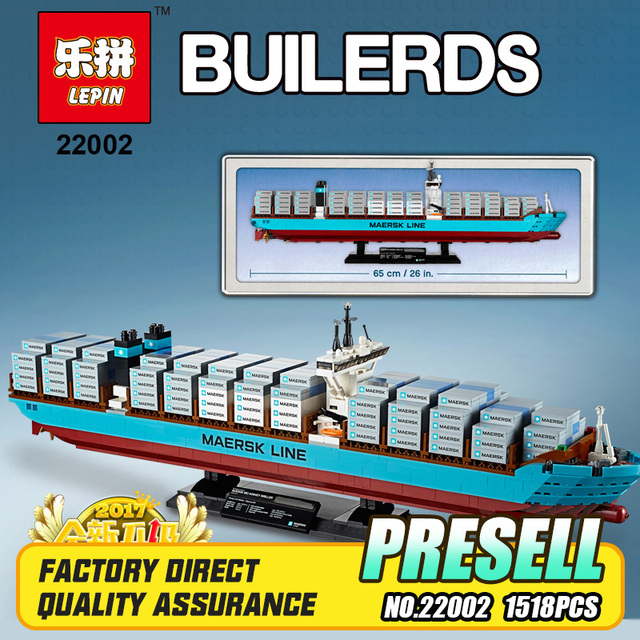 Lepin 22002 Nuevo 1518 Unids Maersk Line Triple E Juguetes 10241