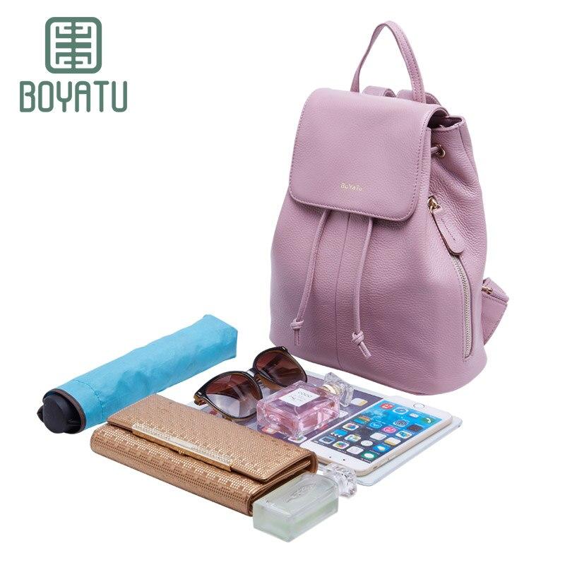 boyatu mochila feminina genuíno mulheres Bright Spot : Bags For Women 2017 Leather