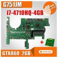 send board+G751JM Motherboard GTX860M 2GB REV2.2 i7 For ASUS G751J G751JM Laptop motherboard G751JM Mainboard G751JM Motherboard