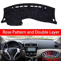 Rose Pattern For Nissan Tiida c12 2011 2012 2013 2014 2015 2019 Car Stickers Car Decoration Car Accessories Interior Car Decals