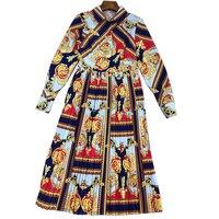 Брендовые платья женские роскошные 2018 платье Винтаж зимние элегантные Для женщин с длинным рукавом платье драпированные осень в полоску пл