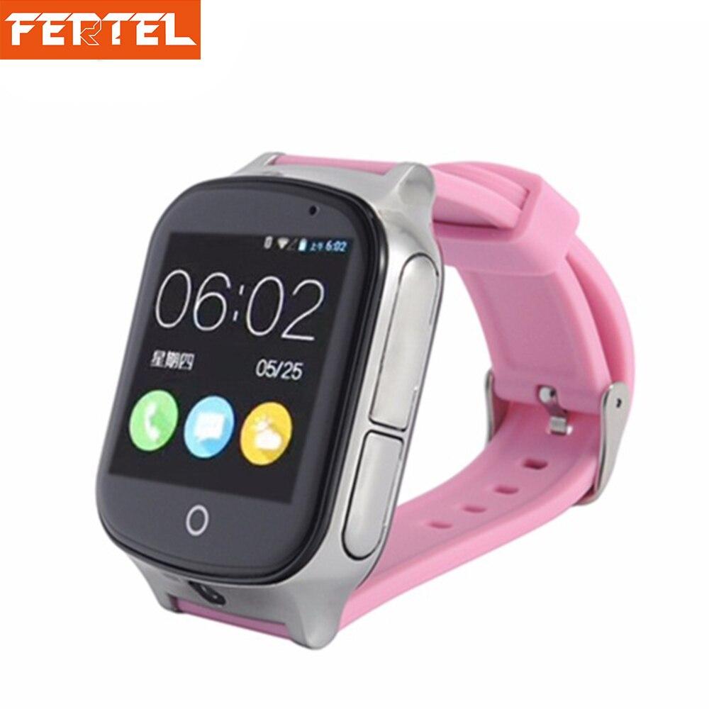 Бесплатная доставка 3G GPS часы для детей трекер SmartWatch С sim-карты WI-FI SOS фунтов Камера здоровья шагомер A19 просмотрам