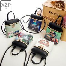 XZP Cartoon Women Messenger Bags Small Cross Body Bag PU Leather Mini Female Shoulder Crossbody Bag Handbags Bolsas Feminina women messenger vintage bags high quality cross body bag pu leather mini female solid shoulder bag handbags bolsas feminina