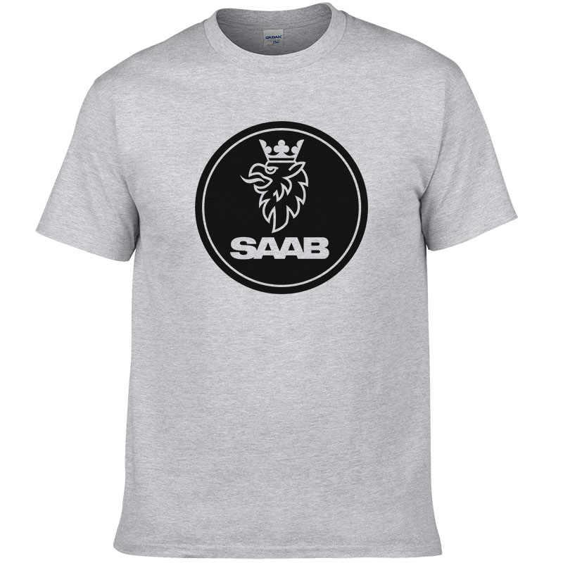 SCANIA Saab футболка Летняя мода Топ хлопок мужская футболка высокое качество печатный европейский размер #190