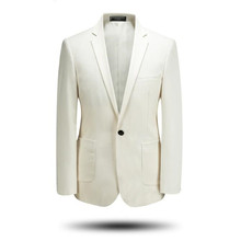 Custom made men suits jacket solid color men wedding suits jacket one button good quality prom party dress jacket