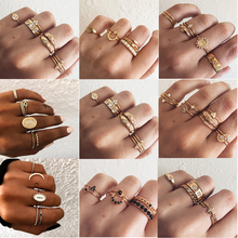 Fashion Multi-piece Women Finger Ring Sets 2019 Sweet Crystal Water Drop Bohemia Charm Ring Sets For Women Party Jewelry Gift цена 2017