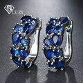 LXOEN 2018 Klassische Semi-wertvolle Stein Stud Ohrringe für Frauen Silber Farbe Runde Studs Ohr Schmuck brinco Geschenk bijoux