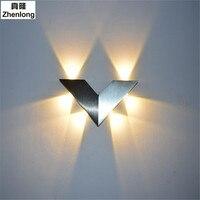 6W AC220V Modern Minimalist LED Triangular Wall Lamp Children Room Wall Light Creative Lamp Hotel Bar