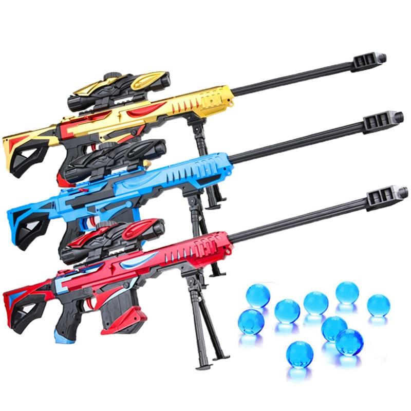 Kids Manual Toy Gun Gel Ball Blaster Arma Airsoft Pistol Paintball Gun Plastic Can Fire Bullets Toys Christmas Gift for Children leg extension split machine