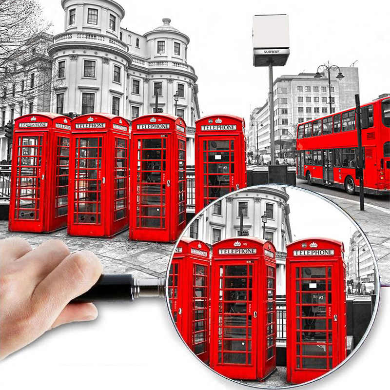Custom London Red Bus City View Wallpaper Personality Retro Cafe Living Room Background 3D Wall Murals Wallpaper Home Decor