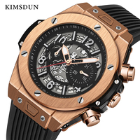 KIMSDUN Automatic Mechanical Watch Men Luxury Brand Personality Silicone Strap Fashion Military Men's Business Trend Watch 2019
