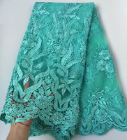 Top Grade African French Lace Exclusive African Tulle Lace Fabric Real Swiss Fabric With Beads Stones