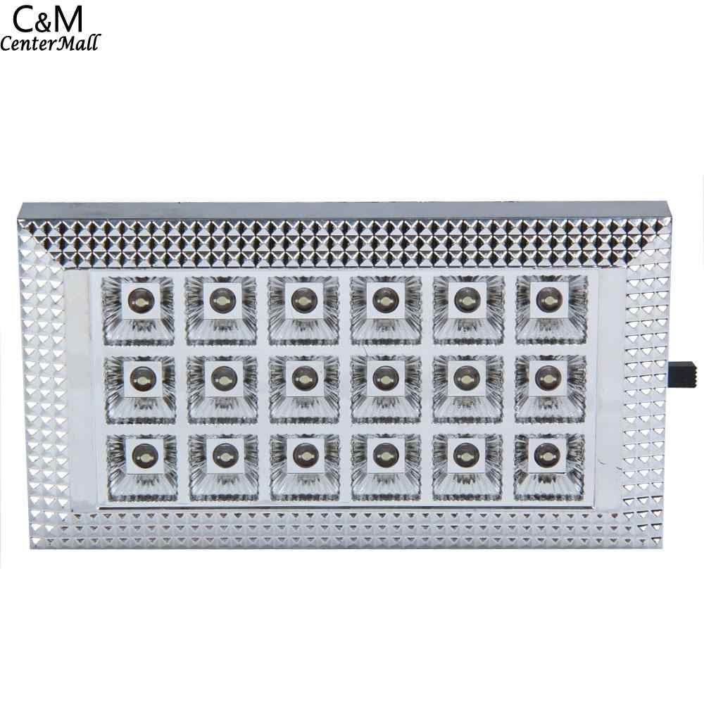 Lamp Switch Interior Indoor Light Rooflight Ceiling Rectangle 18 DC Car Dome With Vehicle Roof 12V LED Led