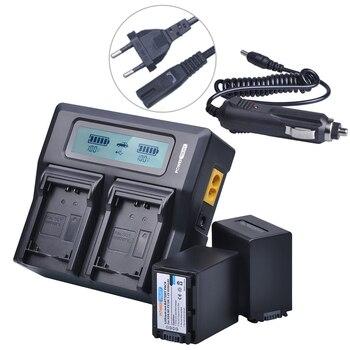 2x4500 mAh NP FV100 NPFV100 FV100 NP-FV100 Batterie + LCD Chargeur Rapide pour SONY NP-FV30 NP-FV50 NP-FV70 SX83E SX63E FDR-AX100E