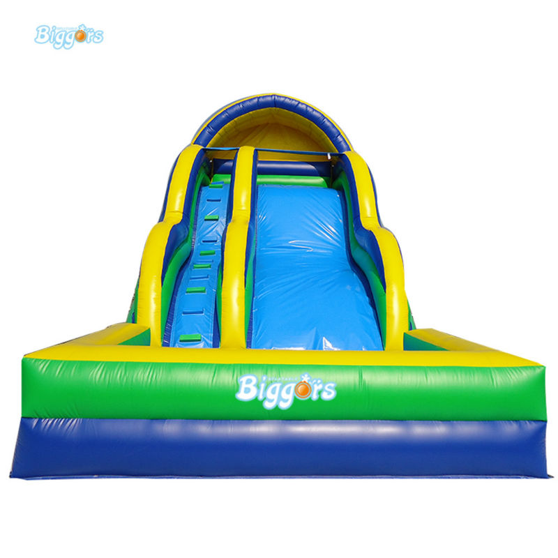 Inflatable Biggors Giant Inflatable Water Slide With Pool For Games commercial inflatable water slide with pool made of pvc tarpaulin from guangzhou inflatable manufacturer