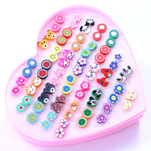Cute Stud Earrings Set (36 pairs)