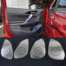 Высокая Класс Car Audio Динамик декор для Mitsubishi Eclipse крест 2017 2018 двери автомобиля громким Динамик отделка Обложки Автомобиль Стайлинг 4 шт.